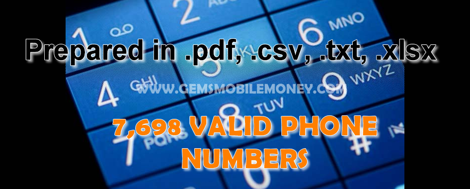 7,698 Valid Phone Numbers