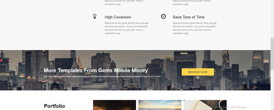 Responsive Web Template 003
